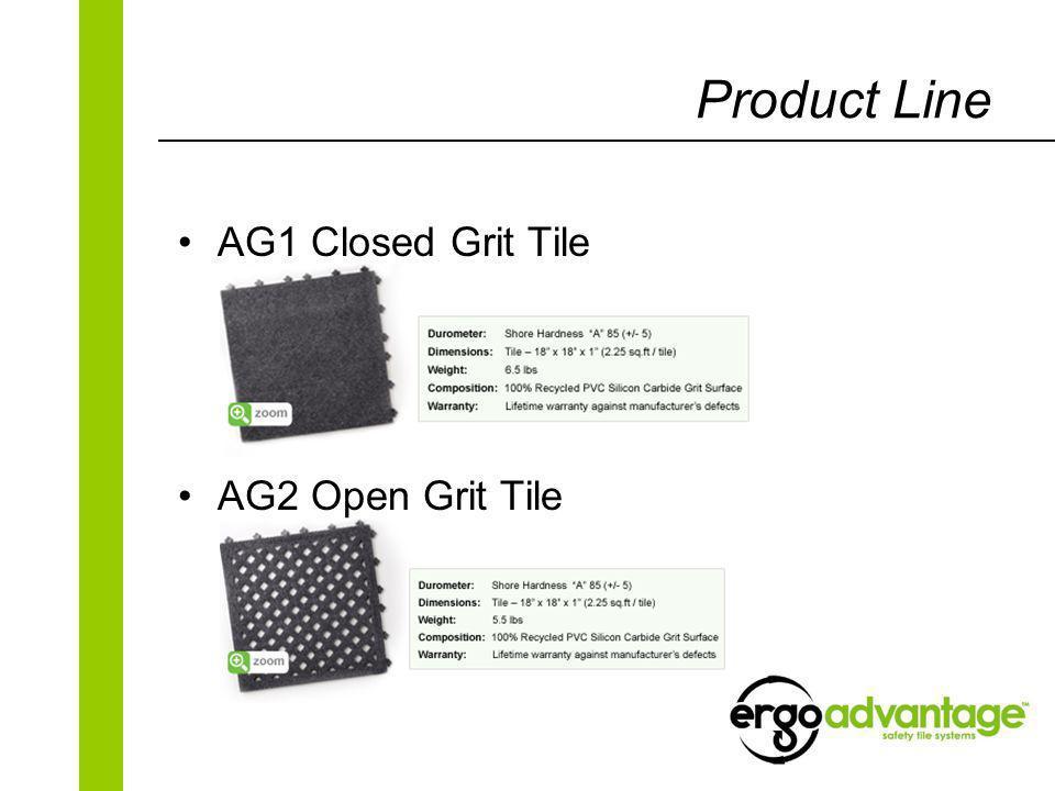 Product Line AG1 Closed Grit Tile AG2 Open Grit Tile