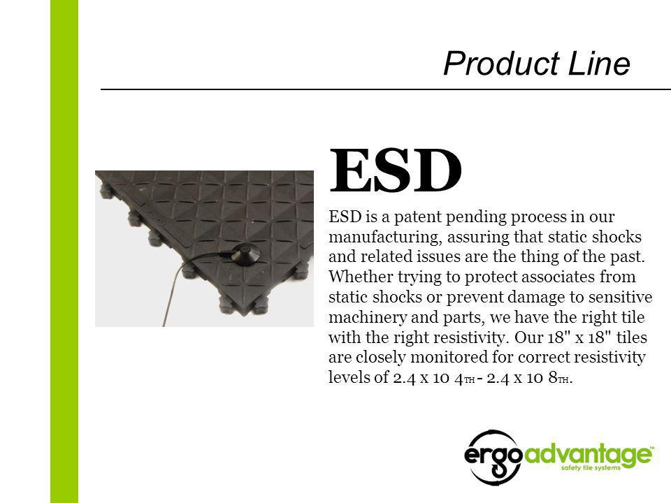ESD ESD is a patent pending process in our manufacturing, assuring that static shocks and related issues are the thing of the past. Whether trying to