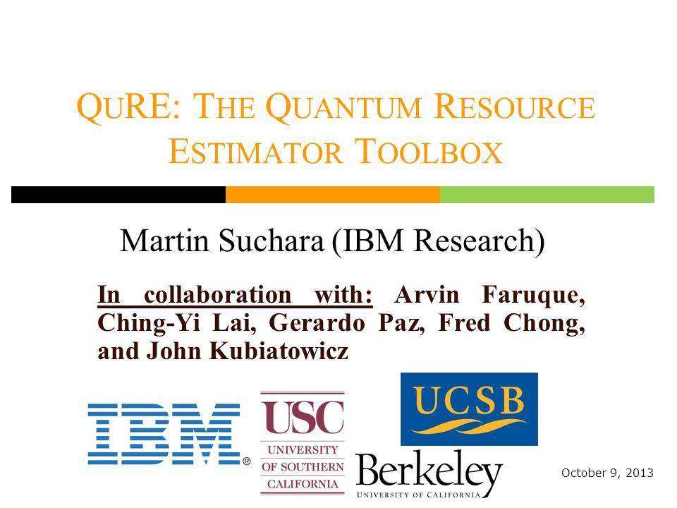2 Why Quantum Computer Resource Estimator.