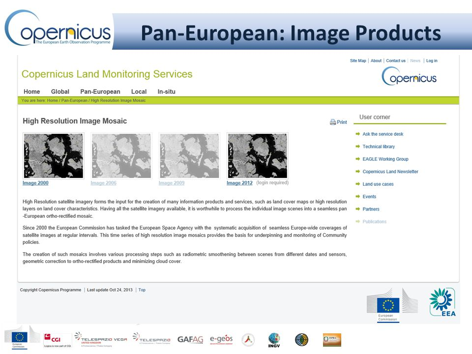 Pan-European: Image Products