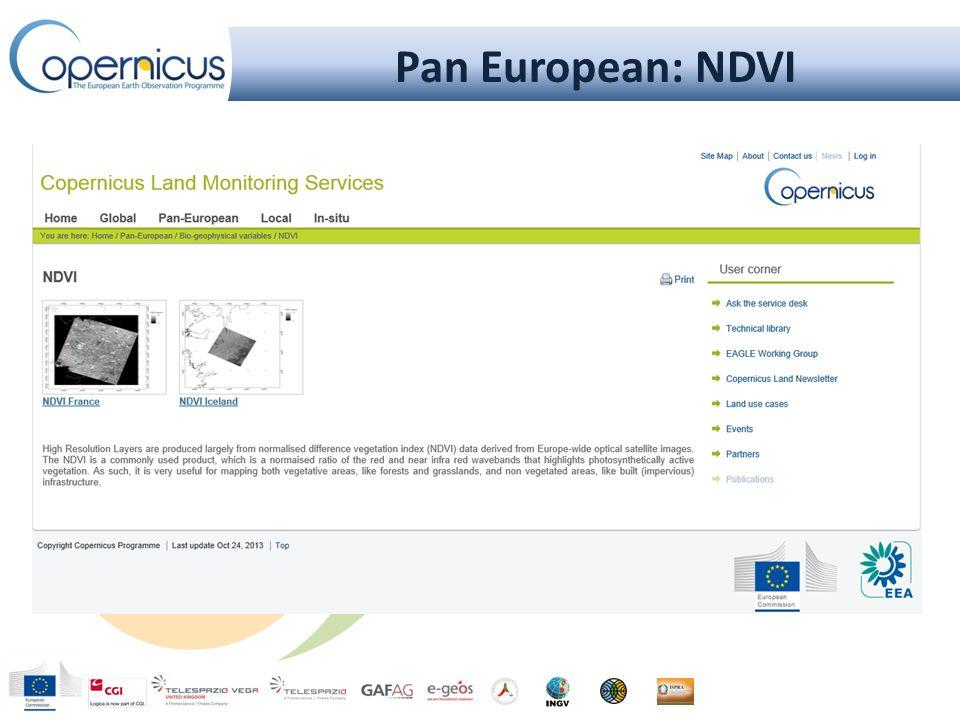 Pan European: NDVI