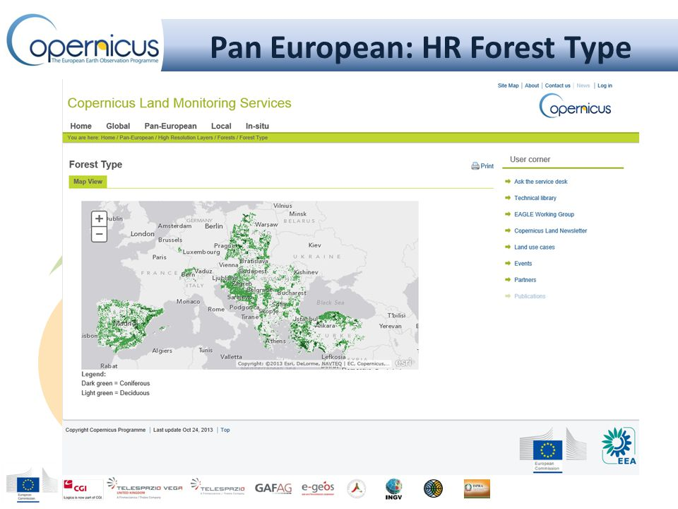 Pan European: HR Forest Type