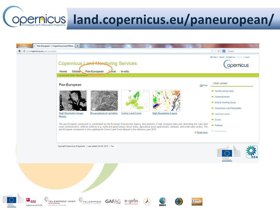 land.copernicus.eu/paneuropean/