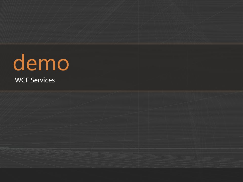 demo WCF Services