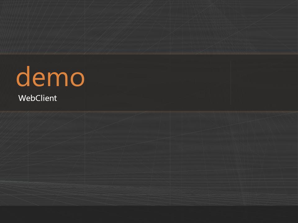 demo WebClient