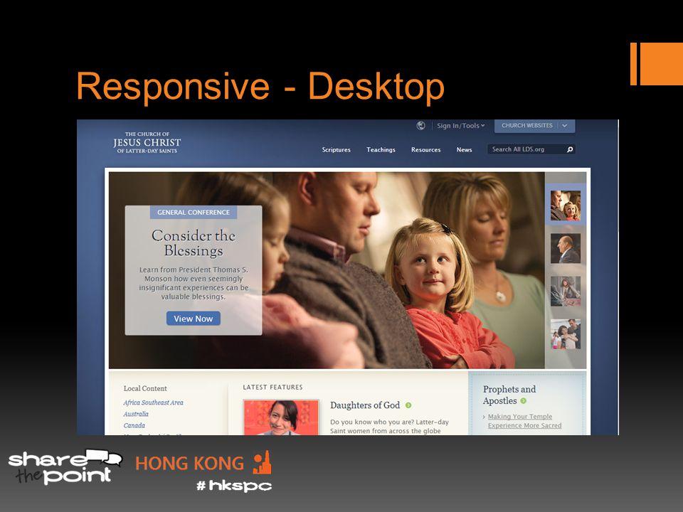 Responsive - Desktop