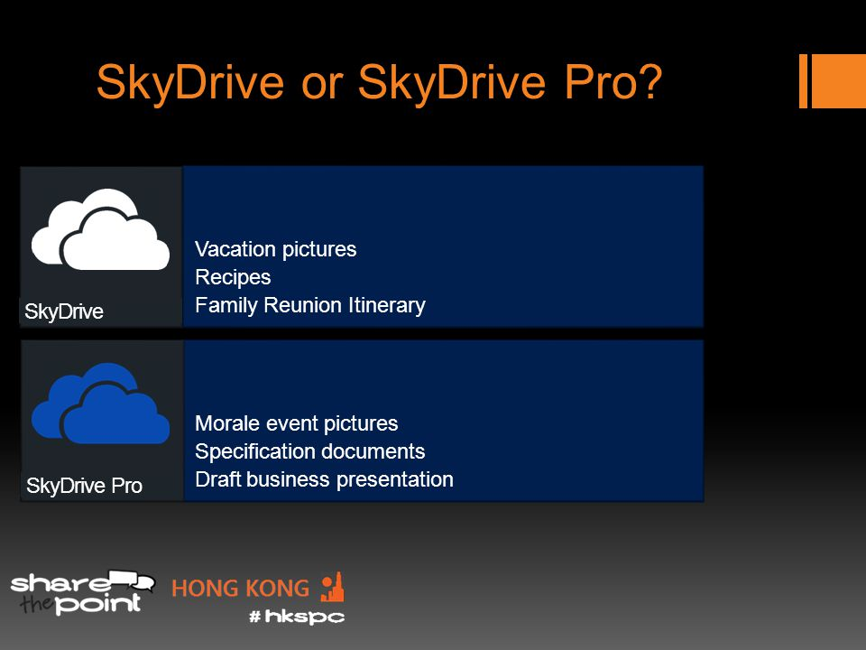 SkyDrive or SkyDrive Pro.
