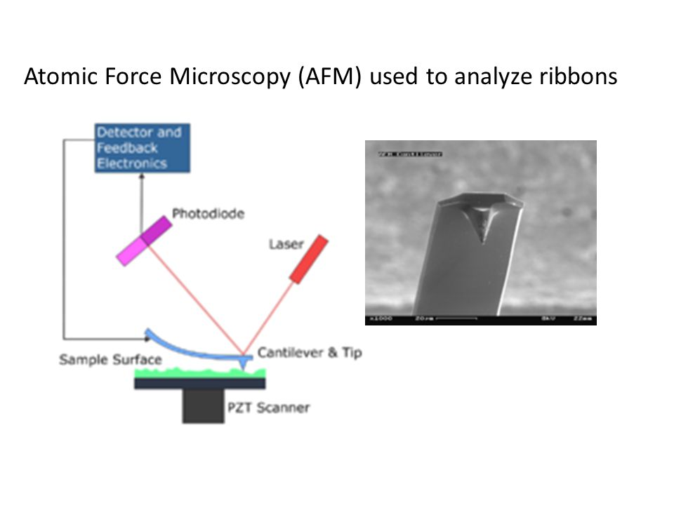 Atomic Force Microscopy (AFM) used to analyze ribbons