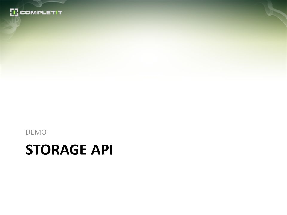 STORAGE API DEMO