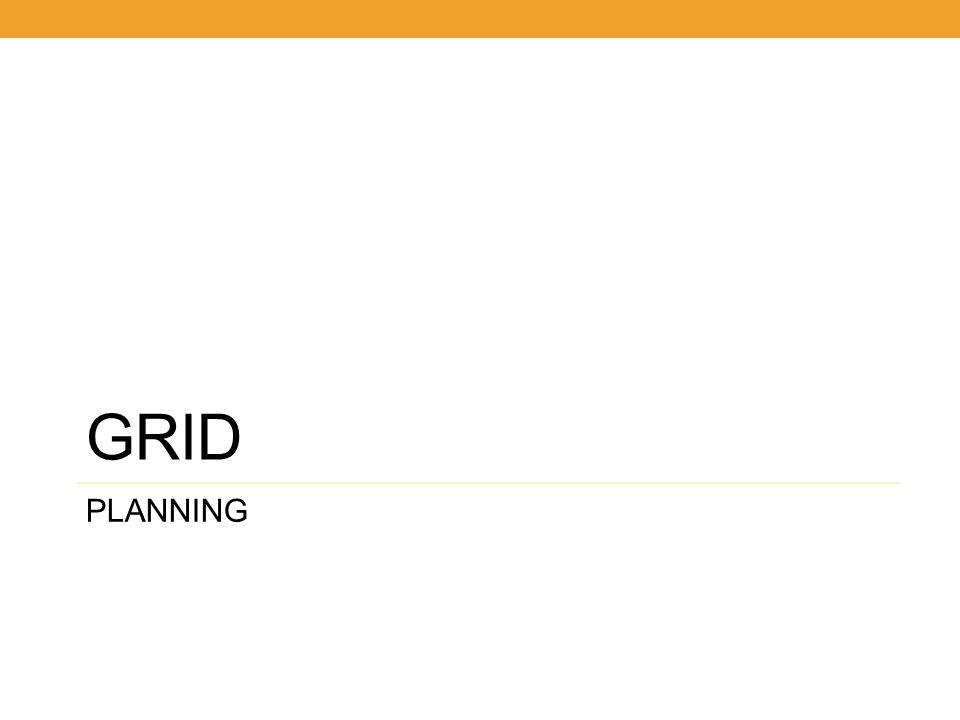 GRID PLANNING 14