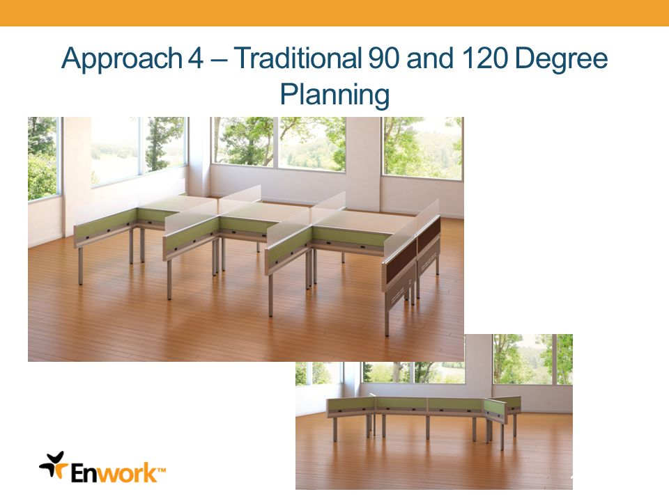Approach 4 – Traditional 90 and 120 Degree Planning 19