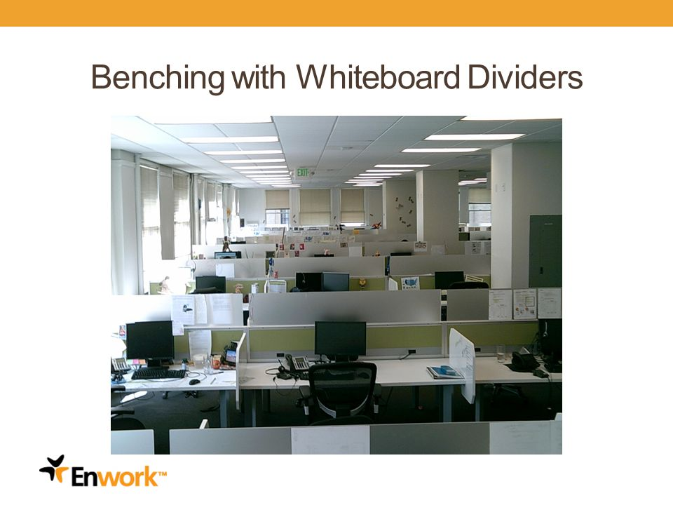 Benching with Whiteboard Dividers