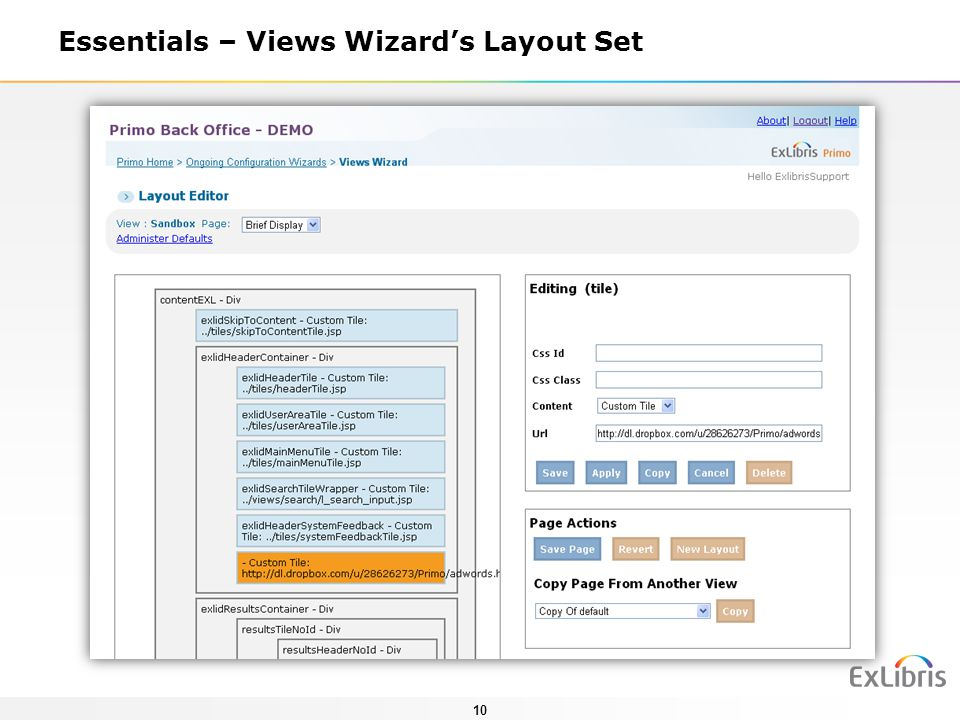 10 Essentials – Views Wizards Layout Set