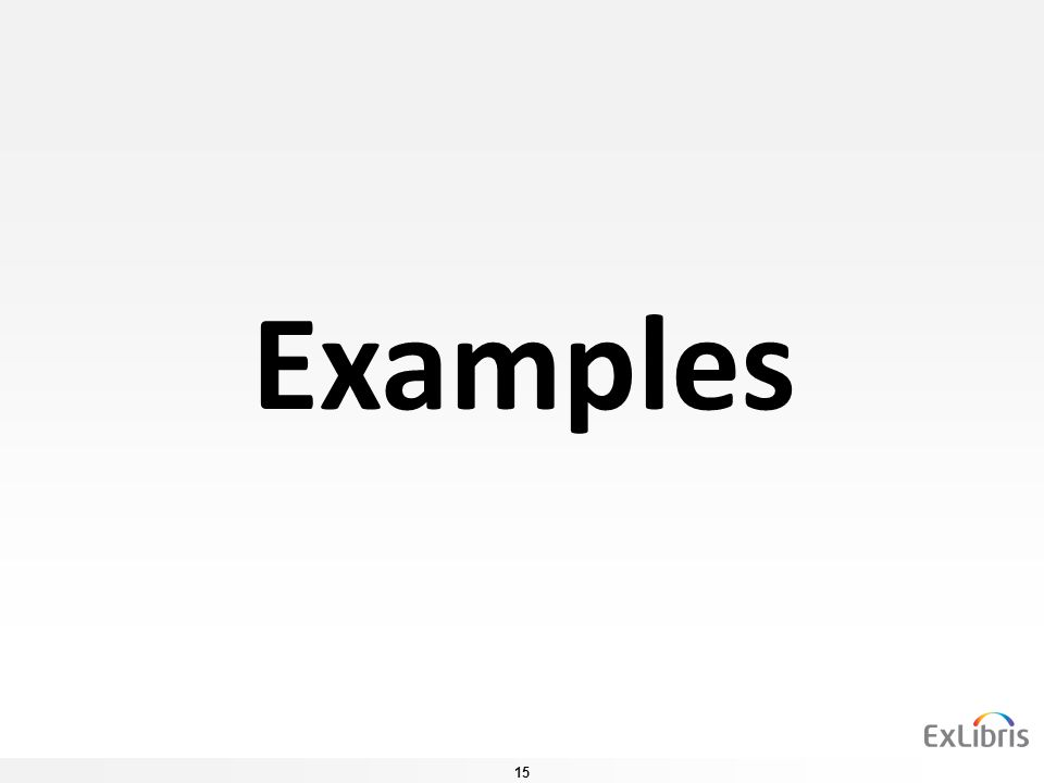 15 Examples