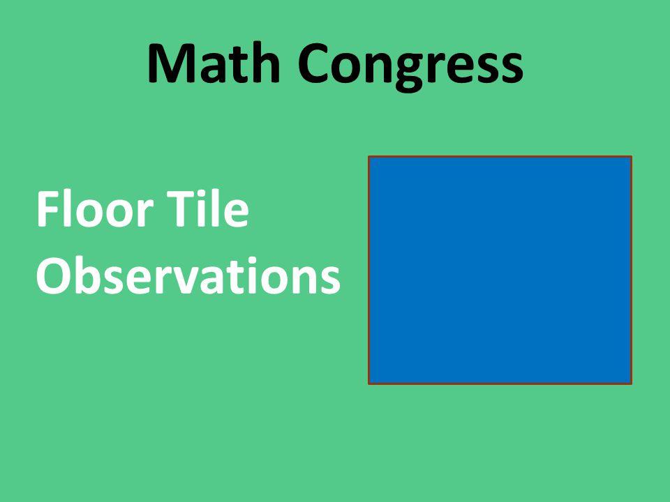 Math Congress Floor Tile Observations