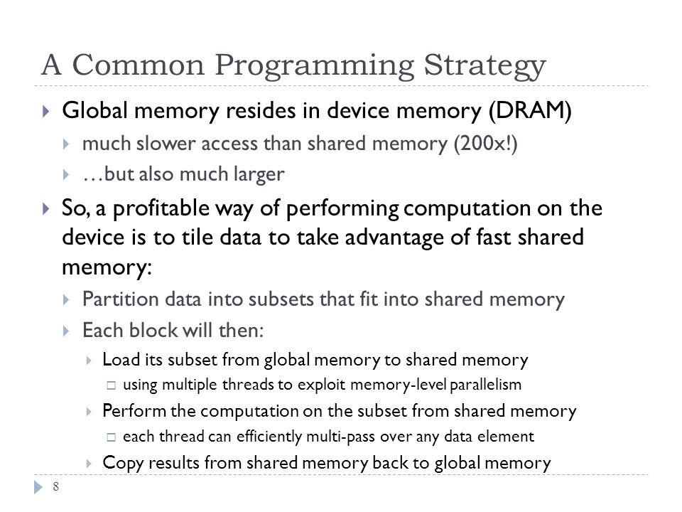 Matrix Multiplication using Shared Memory 9