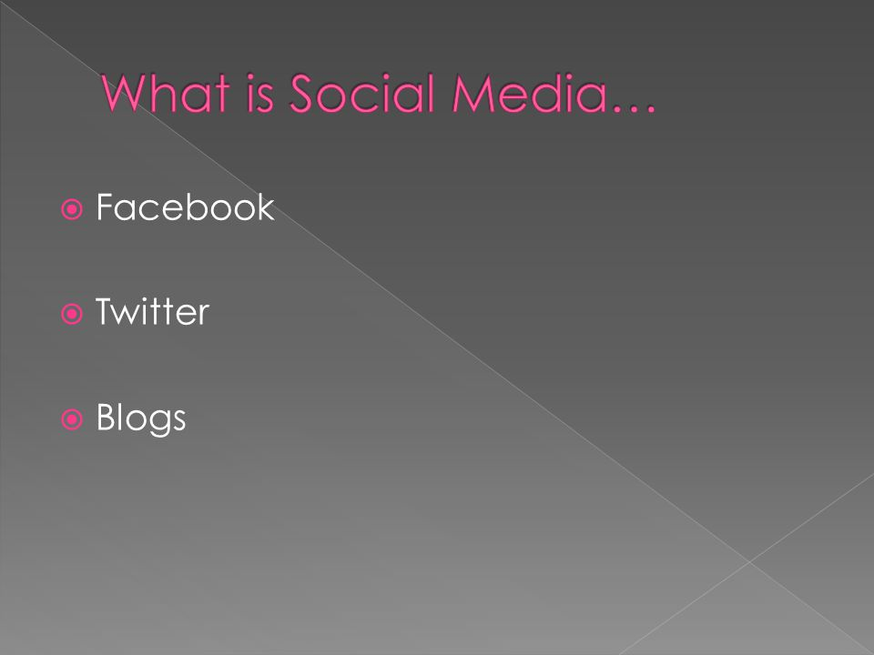 Here are 7 reasons you should be using social media: 1.