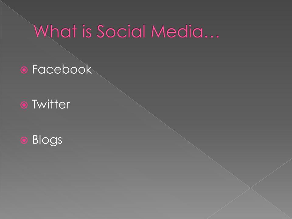 Facebook Twitter Blogs
