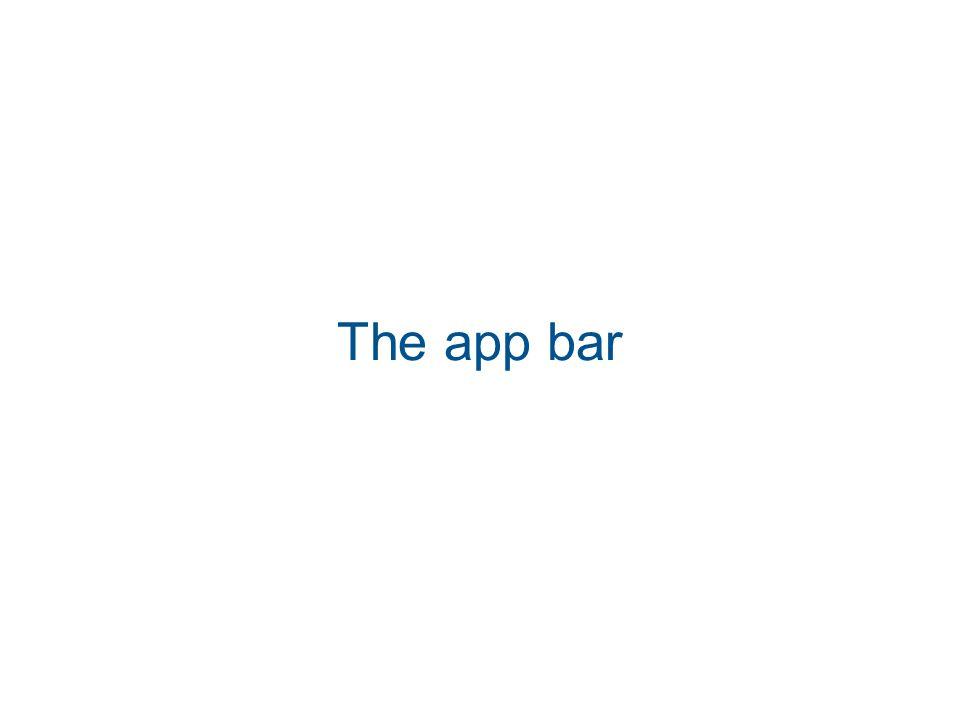 The app bar