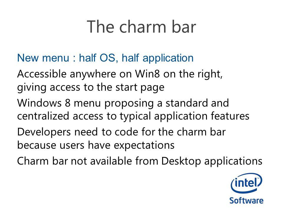 The charm bar
