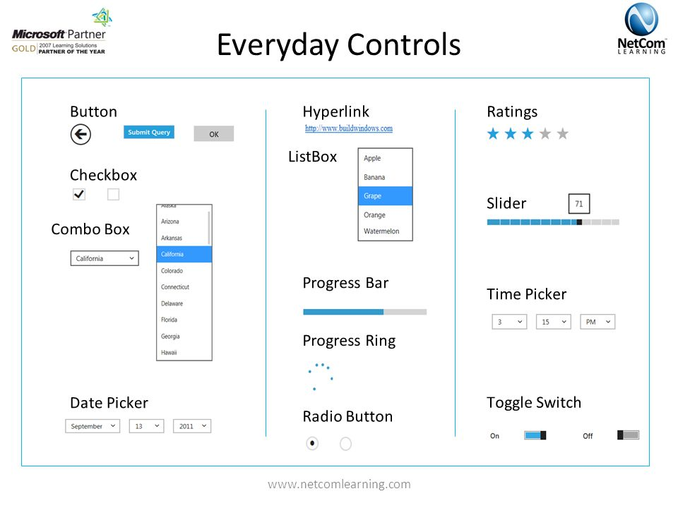 Everyday Controls www.netcomlearning.com