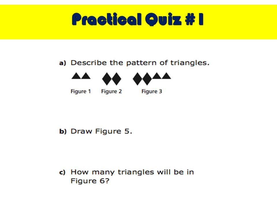 Practical Quiz #1