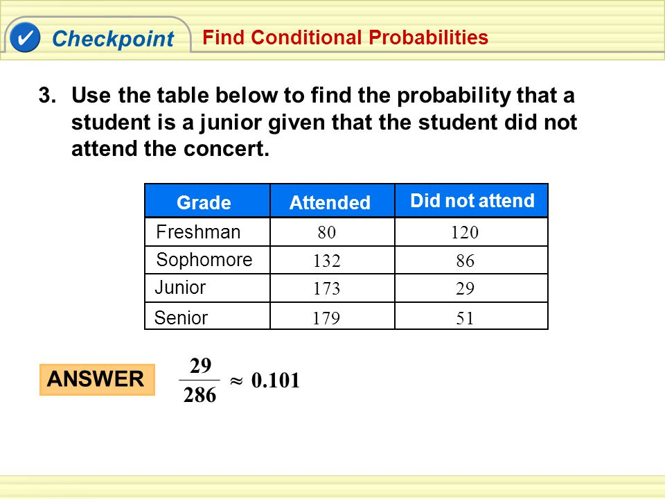 Probability of the Complement of an Event Recall: Complement of an Event All outcomes that are not in the event
