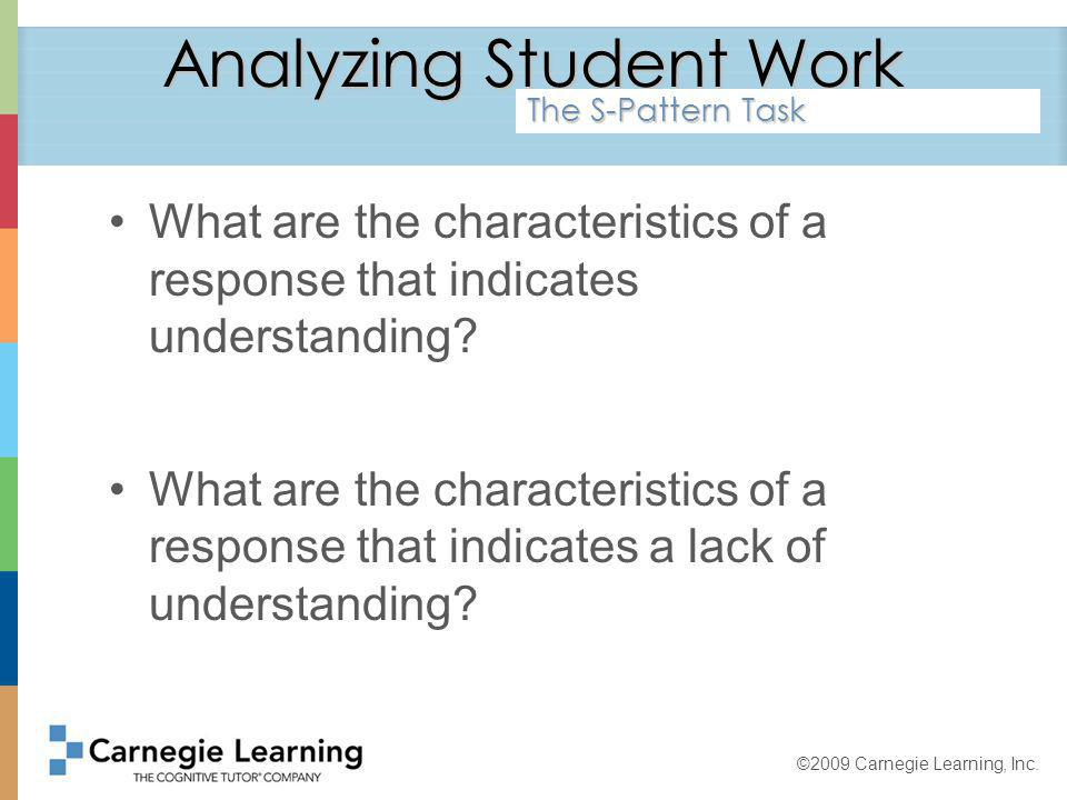 ©2009 Carnegie Learning, Inc. ExaminingLinearFunctions