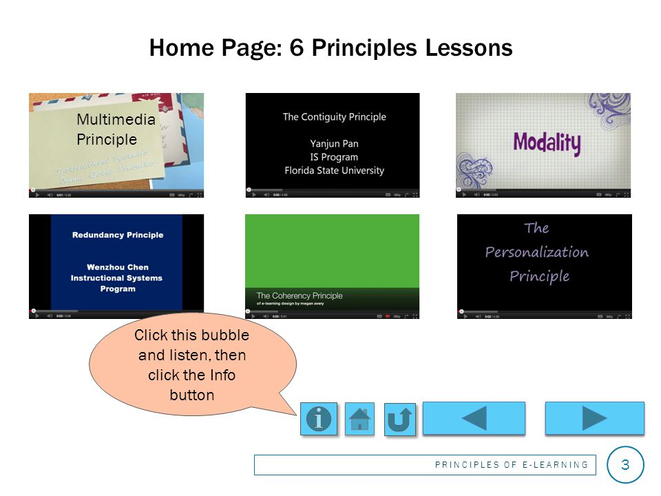 Welcome. This interactive lesson/game is intended for students of instructional design.
