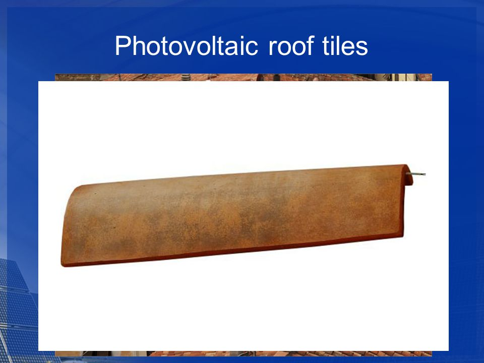 Photovoltaic roof tiles