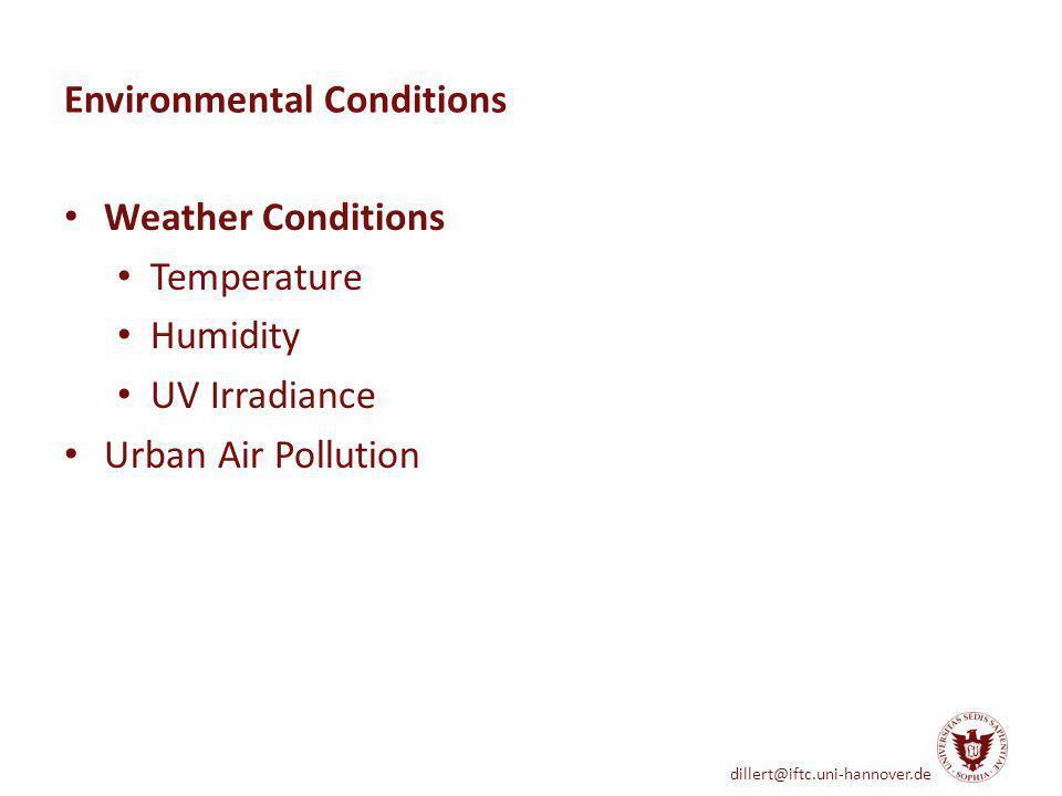 dillert@iftc.uni-hannover.de Pollutant Concentration Concentration / µg m -3