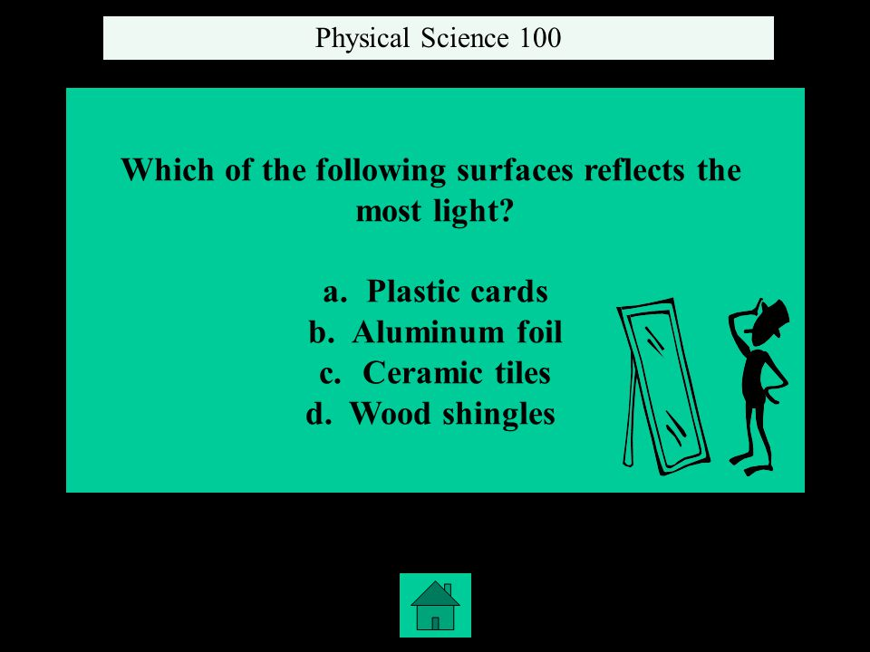 Which of the following surfaces reflects the most light.