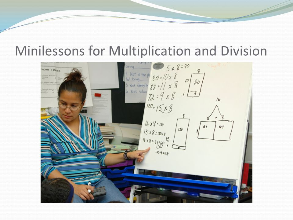 Minilessons for Multiplication and Division