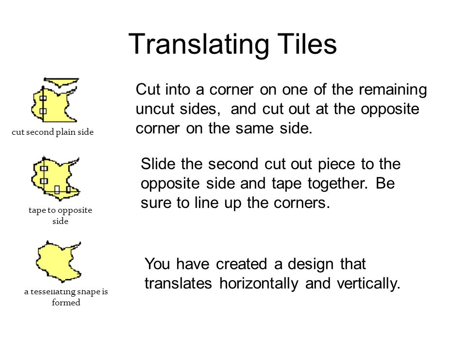 Translating Tiles Trace your design, fitting it together multiple times.