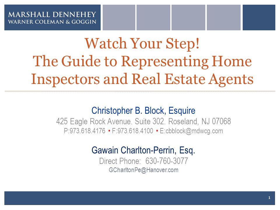 Christopher B.Block, Esquire 425 Eagle Rock Avenue.
