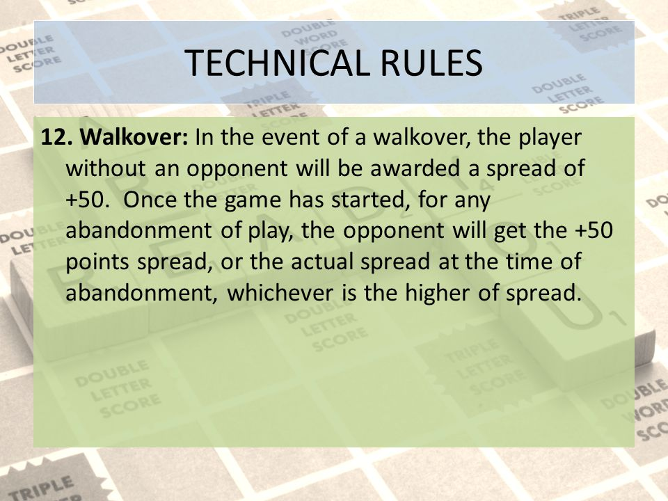 TECHNICAL RULES 12.
