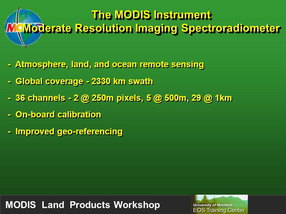 MODIS Land Products Workshop