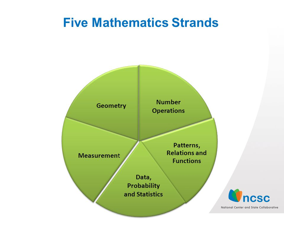 Five Mathematics Strands Patterns, Relations and Functions Geometry Measurement Data, Probability and Statistics Number Operations