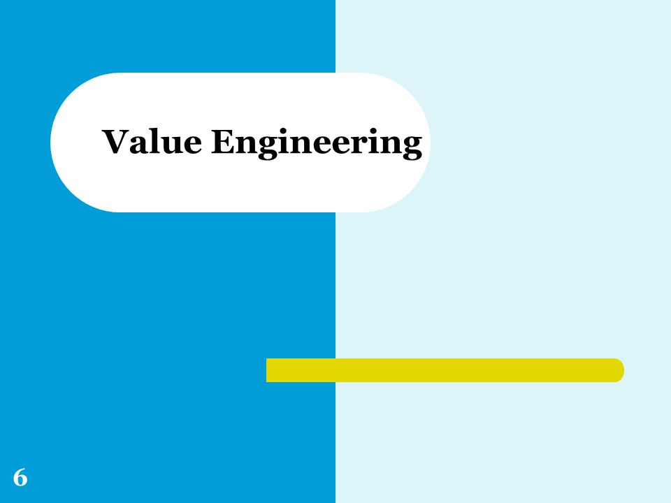 Value Engineering 6