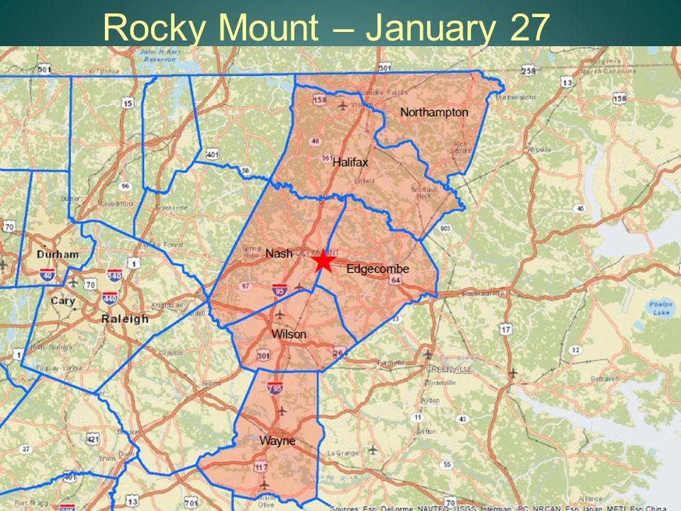 Rocky Mount – January 27 11