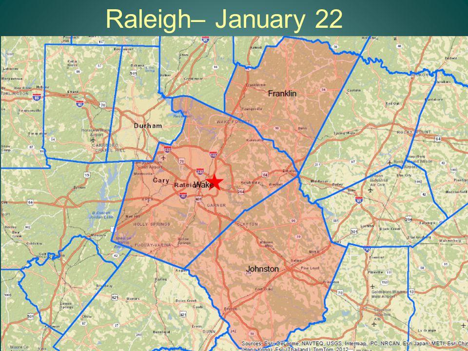 Raleigh– January 22 12
