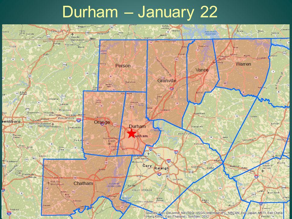 Durham – January 22 13