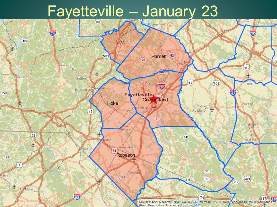 Fayetteville – January 23 14