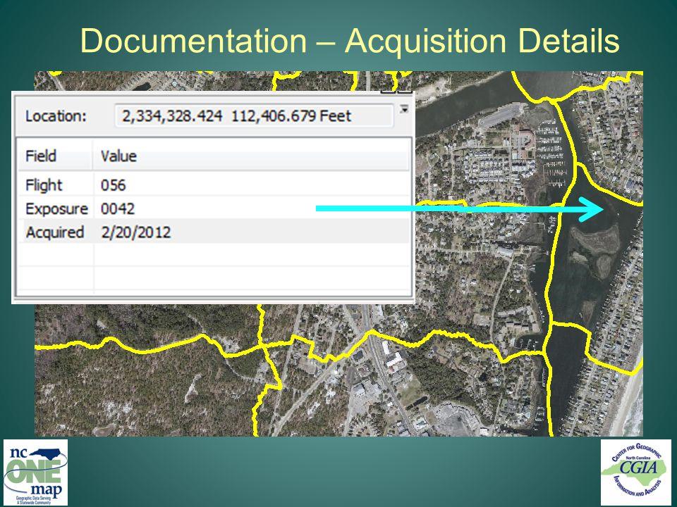 Documentation – Acquisition Details