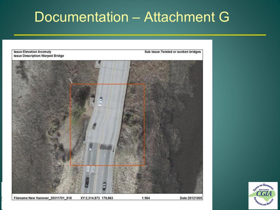 Documentation – Attachment G