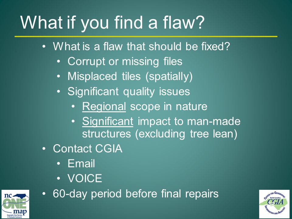 What is a flaw that should be fixed.