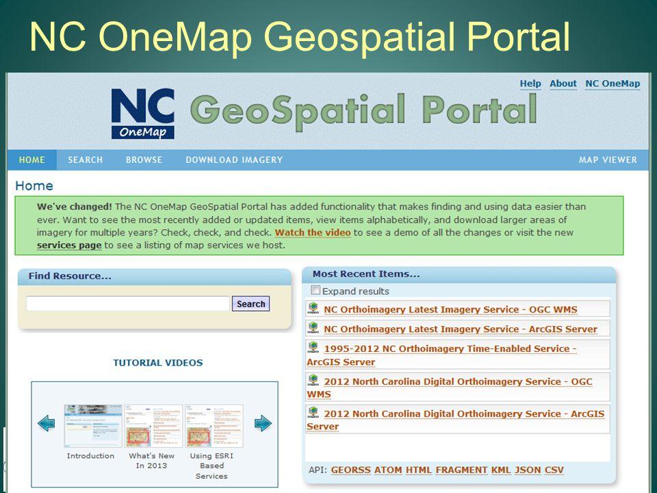 NC OneMap Geospatial Portal