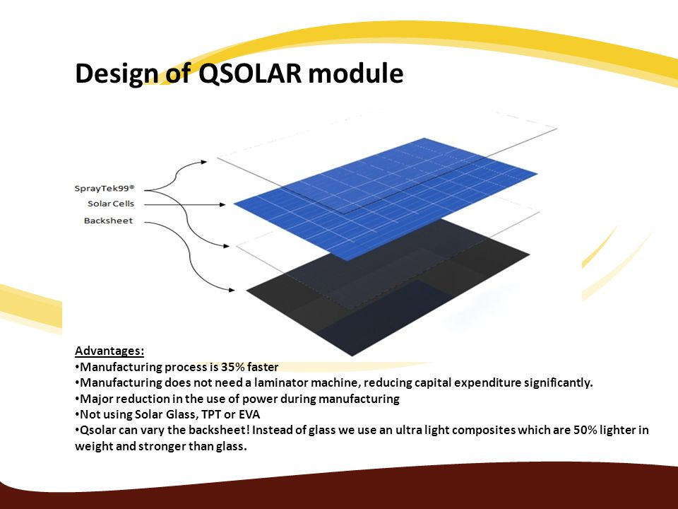 QSOLAR has developed a new solar wafer manufacturing process The Crucible Cell pushing the boundaries of cost effective solar manufacturing to new levels.
