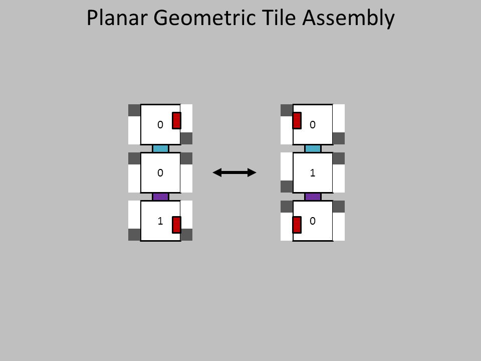 1 0 0 0 1 0 Planar Geometric Tile Assembly