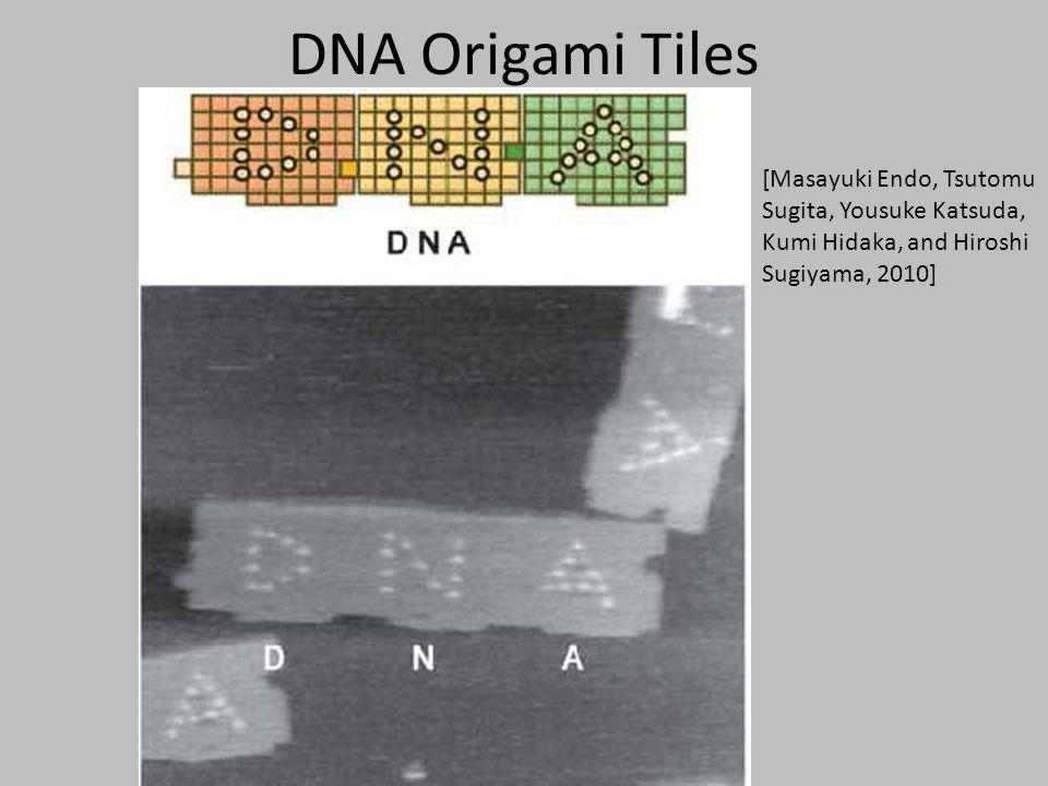 DNA Origami Tiles [Masayuki Endo, Tsutomu Sugita, Yousuke Katsuda, Kumi Hidaka, and Hiroshi Sugiyama, 2010]